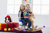 Kids playing in the room — Stock Photo