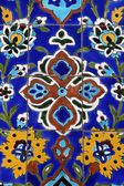 Colorful detail from Iranian mosque in Dubai — Stock Photo