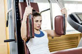 Young woman in the gym — Stock Photo