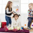 Kids playing in the room — Stock Photo #25162005