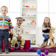 Stock Photo: Kids playing in room