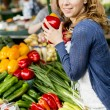 Young woman at the market — Stock Photo #25471151
