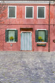 Colorful house from Burano island, Italy — Stock Photo