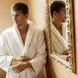 Young man in the spa — Stock Photo
