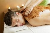 Chocolate massage — Stock Photo