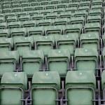 Detail of the seats on the stadium — Stock Photo