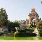 Fountain in Parc De la Ciutadella in Barcelona, Spain — Stock Photo