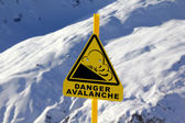 Avalanche sign — Stock Photo