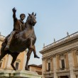 Marcus Aurelius statue on Piazza del Campidoglio in Rome, Italy — Stock Photo