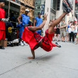 Street dancer in New York — Stock Photo