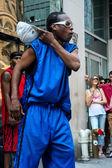 Street dancer in New York — Stock Photo