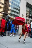 Dançarino de rua em nova york — Fotografia Stock