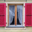 Traditional Austrian window at winter — Stock Photo