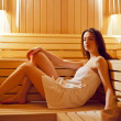 Girl in sauna — Stock Photo #30572369