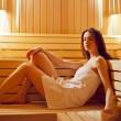 Girl in sauna — Stock Photo #30572369
