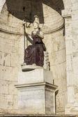 Minerva statue in Rome, Italy — Stock Photo