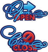 Open-Close sign — Stock Vector
