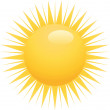 Stock Vector: Yellow sun