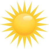 Sarı güneş — Stok Vektör