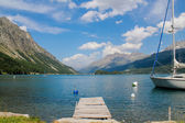 Lake Silvaplana in Switzerland — Stock Photo