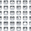 Stock Vector: Silver icons