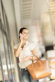 Young woman on the street — Stock Photo