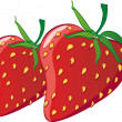 Stock Vector: Strawberries