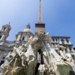 Fontana dei Quattro Fiumi at Piazza Navona, Rome — Стоковое фото