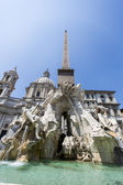Fontana dei Quattro Fiumi at Piazza Navona, Rome — Stock Photo