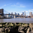 Brooklyn bridge in New York — Stock Photo #34586573