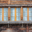 Traditional window from Austria at winter — Stock Photo