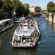 Tourist boat in Paris, France — Stock Photo
