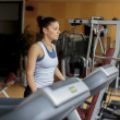 Young woman training in the gym — ストック写真