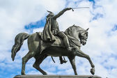 Ban Jelacic statue in Zagreb, Croatia — Stock Photo