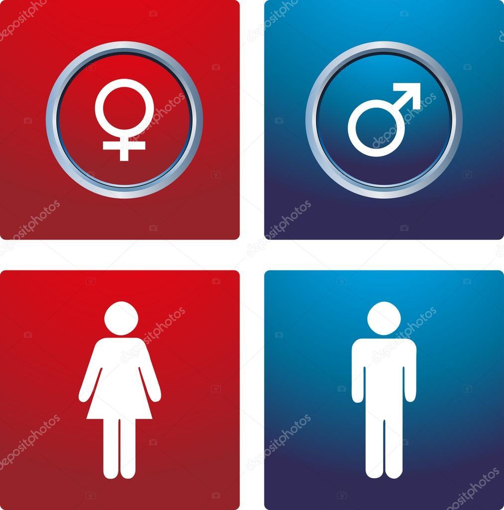 男性& 女性的标志 — 矢量图片作者