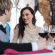 Romantic couple in restaurant — Stock Photo