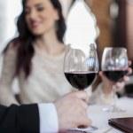 romantisch paar in restaurant — Stockfoto