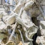 Fontana dei Quattro Fiumi at Piazza Navona in Rome, Italy — Стоковое фото