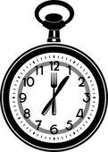 время обеда — Cтоковый вектор