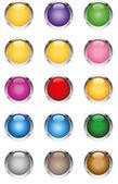 Cam gibi düğmeleri — Stok Vektör