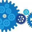 Stock Vector: The gears