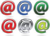 电子邮件图标 — 图库矢量图片