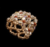 Crystal cluster ring — Stock Photo
