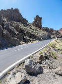 View at the road in Teide National Park, Spain — Stock Photo