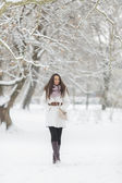 Young woman at winter — Stock Photo