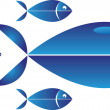 The fish — Stock Vector