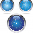 Stock Vector: The clocks