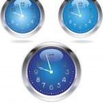 The clocks — Stock Vector