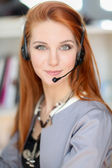 Young call operator — Stock Photo