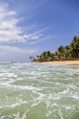 Hikkaduwa beach at Sri Lanka — Stock Photo